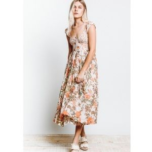 Free People I Love You floral midi dress